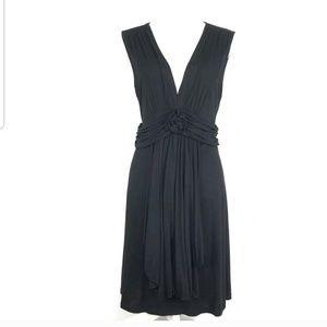 Boston Proper Sleeveless Stretch Deep V-Neck Dress